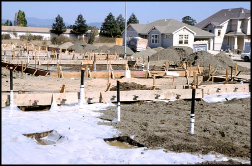 before foundation is poured water setup